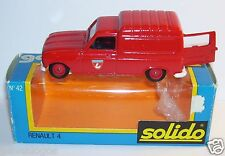 OLD SOLIDO RENAULT 4  SAPEURS POMPIERS réf 42 1/43 IN BOX