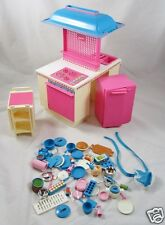 1984 Barbie Dream Kitchen Cart Dishes Accessories Almost Complete 1980s Mattel