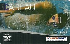 RARE / CARTE CADEAU : AARON PIERSOL - NATATION : INTERSPORT / ARENA - CARD