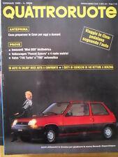 Quattroruote 351 1985 - Test Innocenti Mini 650 - Volvo 740 Turbo -     [Q32]