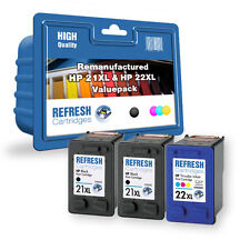Everyday Valuepack of 3 Remanufactured HP 21XL & HP 22XL Ink Cartridges