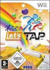 Nintendo wii Lets tap * 5 game party jeux comme neuf