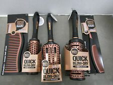 5 CONAIR QUICK BLOW-DRY COPPER COLLECTION BRUSHES & COMBS ALL DIFFERENT MM 6887