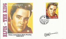 ELVIS PRESLEY - FIRST DAY COVER 026 PALAU REMEMBERS ELVIS STAMPED IN PALAU