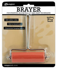 """Ranger Inkssentials Inky Roller Brayer 3-5/16"""" wide for stamping printing paint"""