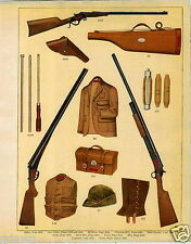 1915 PAPER AD Revonoc Hunting Vest Clothes Shotgun Rifle Gun COLOR