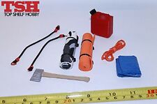 1/10 Scale RC Crawler Accessory Kit #4 Axe Gas Can Bungees Blanket TSH-K04