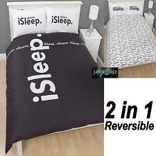 iSTYLE iSLEEP REVERSIBLE DOUBLE DUVET QUILT COVER KIDS BEDDING SET 100% COTTON