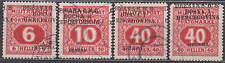 YUGOSLAVIA - 1918 - 4x ERROR SHIFTED OVERPRINT POSTAGE DUE - used