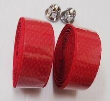 Road Cycles Handle Bar Tape/ Red Eva+Gel High Quality w/plugs Racing Bike Grips