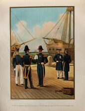 US Navy Marines Uniform Offizier Zweispitz Tschako Segelschiff Hafen Orden USA