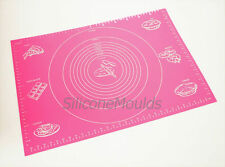 PINK MASSIVE HUGE Fondant Silicone Rolling Work Mat Mould Sugarpaste Cake Baking