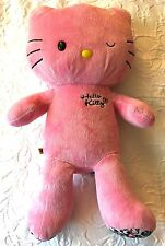 Build a Bear Large Limited Edition Pink Leopard Hello Kitty Plush Stuffed Animal