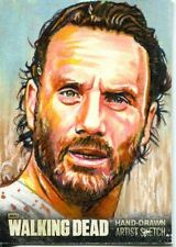 The Walking Dead Season 3 Part 1 Sketch Card By Chris Hoffman