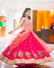 Beautiful Rani Designer Bollywood Indian Party Wedding Wear Heavy Lehenga Choli