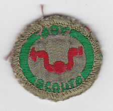 1960's UNITED KINGDOM (UK) / BRITISH SCOUTS - BOY SCOUT JOINER Proficiency Badge