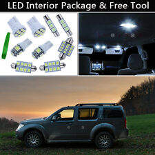 7PCS White LED Interior Car Light Package kit Fit Nissan Pathfinder 2005-2012 J1
