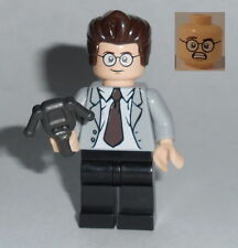 MOVIE Lego Ghostbusters Dr. Egon Spengler Street Clothes Grey suit custom #5s