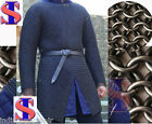 BUTTED CHAINMAIL SHIRT LARGE F SLEEVE CHAIN MAIL ARMOR CHAINMAILE HAUBERGEON