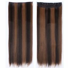 1PCS Clip in Full Head Hair Extensions For Human Long Curly Natural Hair Piece