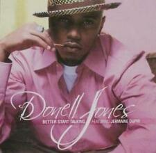 Donnell Jones: Better Start Talking PROMO Music CD Jermaine Dupri 3tk w/ Artwork