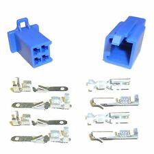 Motorcycle Mini-Latch - Wiring Connector Set (2.8mm) - 4 way (BLUE)