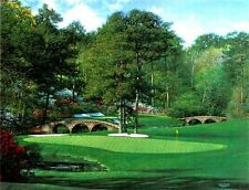 The 11th at Augusta White Dogwood by Bernard Willington Golf The Masters 18x24