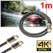 1m Premium Ultra HD HDMI Cable v2.0 High Speed Ethernet LCD HDTV 2160p 4K 3D