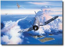 """Zero Fighter Sweep"" by Roy Grinnell - Signed by MOH Winner Kenneth Walsh"