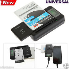 YIBOYUAN Universal LCD Battery Charger+USB-Port For Smartphone Battery US Plug