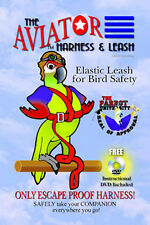 Parrot Bird Pet Aviator Harness Bird Safety Suit & Leash Large