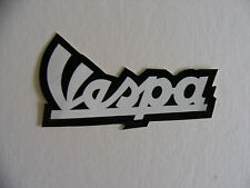 Vespa Adhesive Sticker Scooter Moped Tool Box Mod Decal White & Black