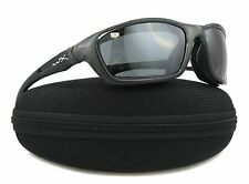 Wiley X Brick Crystal Metallic Frame Silver Flash Smoke Grey Lens Sunglasses 855