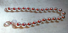 925 contemporary SILVER hollow SPHERE BEAD BRACELET Lightweight Simple SMALL