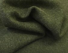 All Wool Tweed herringbone fabric jacketing Olive Green 2.5mts