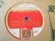 78 Giri SOPR. T.CARUGATI- RIGOLETTO / MADAME BUTTERFLY - FONOTECNICA   3035/3041