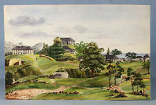 1860, Inger Maria BURTON, officer's quarters and barracks, JAMAICA, 29.5 x 45cm