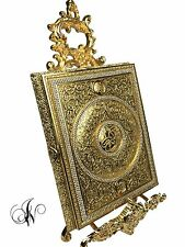 Quran box cover in beautiful gold colour with crystal decoration ( large )