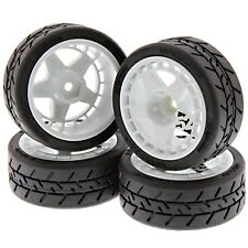 HPI 1/10 RS4 Sport 3 Drift SPEC GRIP TIRES, FIFTEEN52 TURBOMAC WHITE WHEELS 12mm