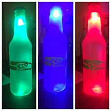 Seattle Seahawks  LED Bottle Light, Pub Bar Neon Man Cave Sign NFL