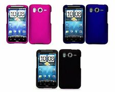 3-pack Hard Rubberized Case for HTC Inspire 4G - Pink, Black, Blue