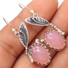Rose Quartz 925 Sterling Silver Earrings Jewelry SE106546