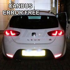Details about  SEAT LEON ICE WHITE LED NUMBER PLATE LIGHT BULBS CANBUS ERROR FR