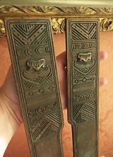 Exquisite ANTIQUE LCT Tiffany Studios NY Bronze BLOTTER End Caps AMERICAN INDIAN
