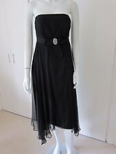 Monsoon £135 black Beatrice BARDOT silk chiffon dress cocktail party Size 12