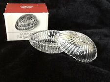 Gorham full lead cut crystal egg shaped trinket Easter box w/original box #C214
