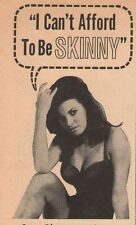 Raquel Welch Wate-On Don't Be Skinny Weight Gain 60s Print Ad Advertisement 1965