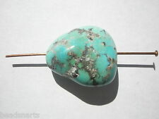 Genuine Campitos Green/blue Turquoise Lg Nugget Gemstone Bead - 23x20mm - 1