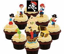 Pirate Party! Edible Cupcake Toppers 36 Standup Fairy Cake Decorations Kids Boys