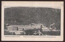 Postcard BELLOWS FALLS Vermont/VT  Farm Machine Co Factory/Plant view